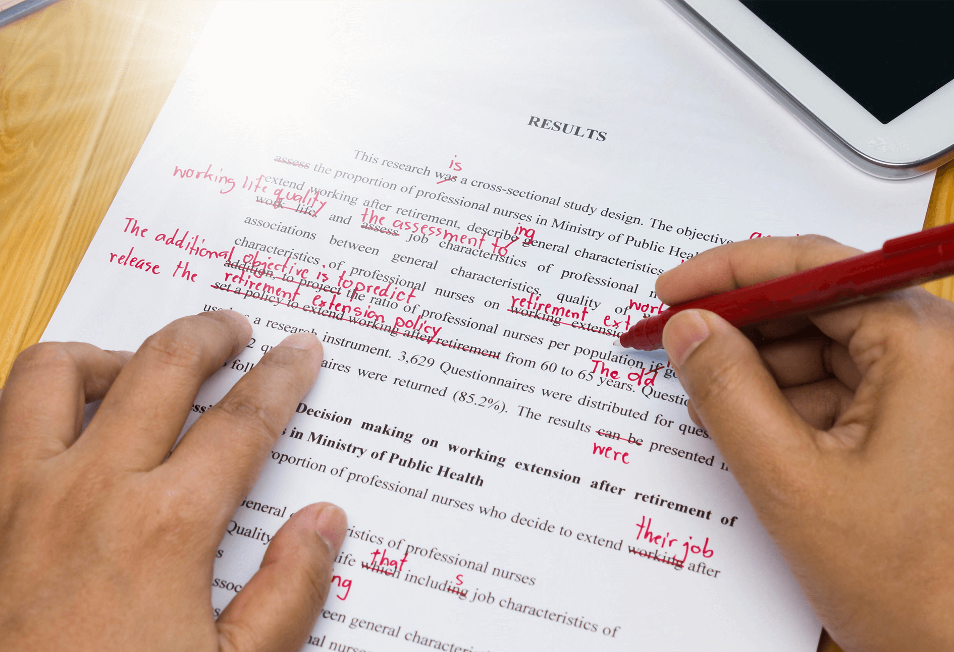 Assignment Proofreading & Editing Services